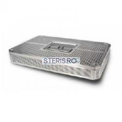 Cos sterilizare 3/4 inox (405 x 255 x 55) mm cu capac