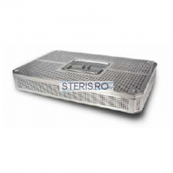 Cos sterilizare 3/4 inox (405 x 255 x 105) mm cu capac