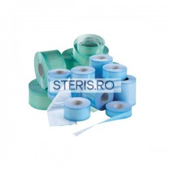 Role sterilizare plisate 150 mm x 50 mm x 100 m, cu volum (pliu) cu indicatori abur si etilen-oxid