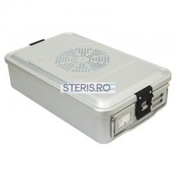 Container sterilizare Standard 3/4 (465 x 280 x 135 mm) cu capac neperforat Uzman